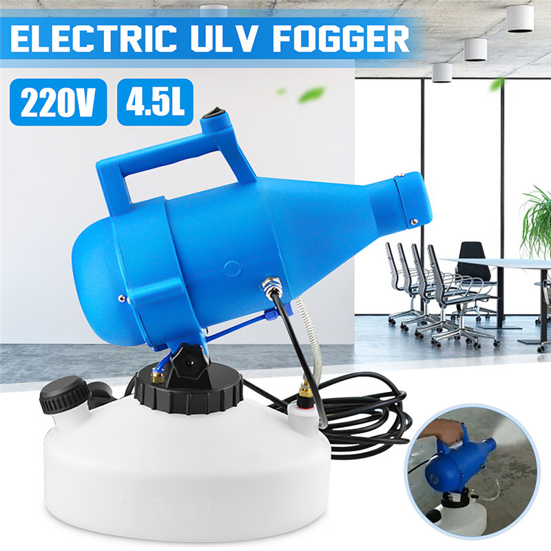 110V/220V 4.5L 1400W Portable Electric ULV Fogger Machine Sprayer Hotels Disinfection Home Sterilizat Residence Office Industr