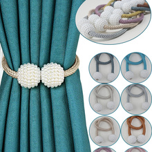 Tiebacks-Straps Rope Buckle Curtain Magnetive Room-Accessories Lace Pearl Strawberry