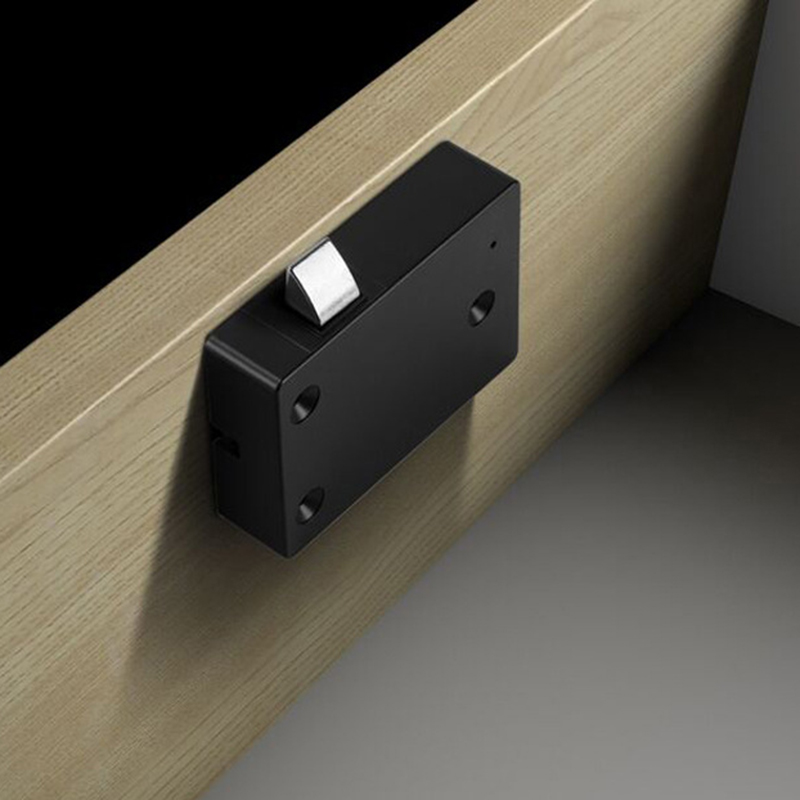 Image 4 - Smart Drawer Fingerprint Lock Alloy Intelligent Electronic Lock Anti Theft Safety Lock for Storage Cabinet Wardrobe DeskElectric Lock   -