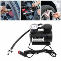 DC 12V 300PSI Auto Car Tire Inflator Auto Air Compressor Tire Pump with Pressure Gauge for Car Bicycle Ball Rubber Dinghy