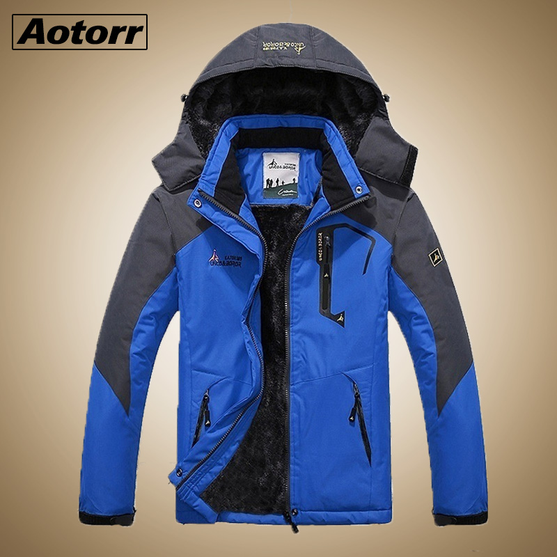 Coat Parkas Sport-Jacket Skiing Hiking Male Waterproof Thick Men Winter Mens Windbreaker