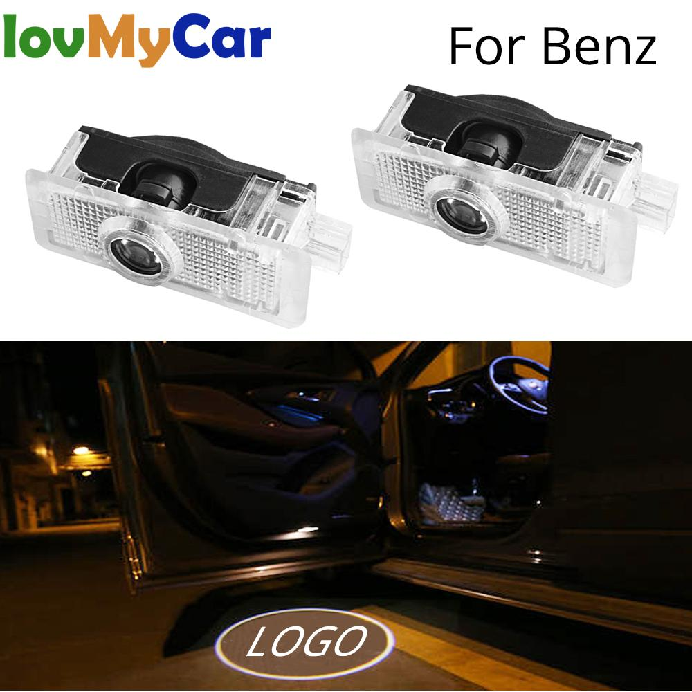 2Pcs Car Door Logo Projector Light Welcome Lamp Courtesy Laser For Mercedes Benz CLA-Class Couple E C A207 CLS C218
