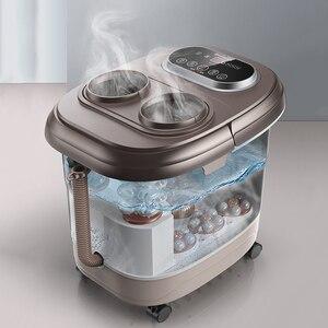 Image 5 - Voet Massage Bad Automatische Voeten Wastafel Elektrische Verwarming Machine Thuisgebruik Vingers Kneden Begassing Massage Tai Chi Kneden Spa