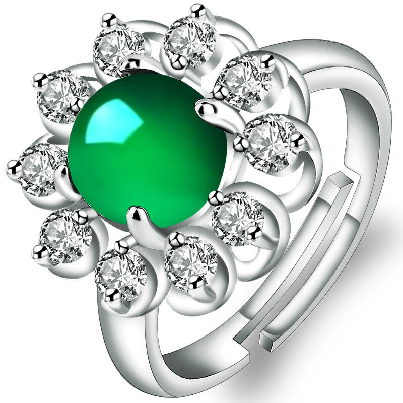 Green Cat's Eye Stone Women's Ring Anniversary Opening Adjustable Commitment To Giving Mother Or Grandmother Jewelry Lady Ring