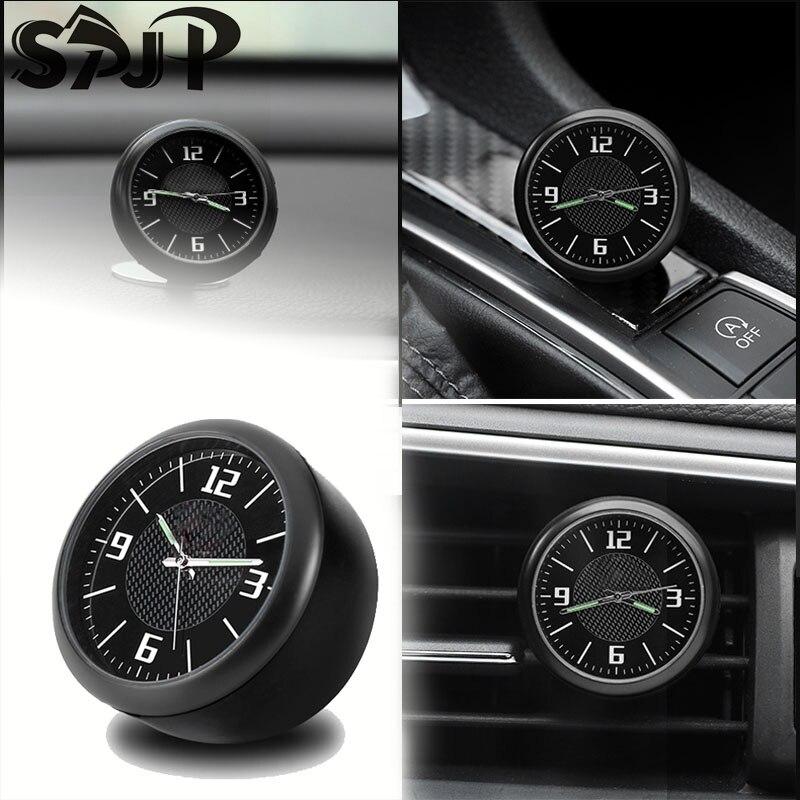 車の内装部品時計腕時計自動電子クォーツ時計車の装飾ロゴホンダbmwベンツvwアウディ
