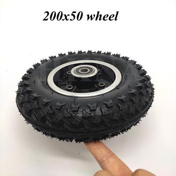 200 #215 50 koła Off-opona drogowa do skutera elektrycznego E100 E150 E200 Espark Crazy Cart skutery 8 #215 2 przeciwpoślizgowe akcesoria do opon tanie i dobre opinie HKNA CN (pochodzenie) 2inch 8inch alloy rubber 0 8kg 200x50 off-road wheel