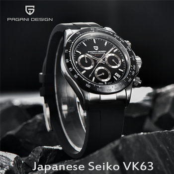 NEW PAGANI DESIGN mens watches Top brand Luxury quartz Silicone band sports watch for men automatic chronograph waterproof 100M