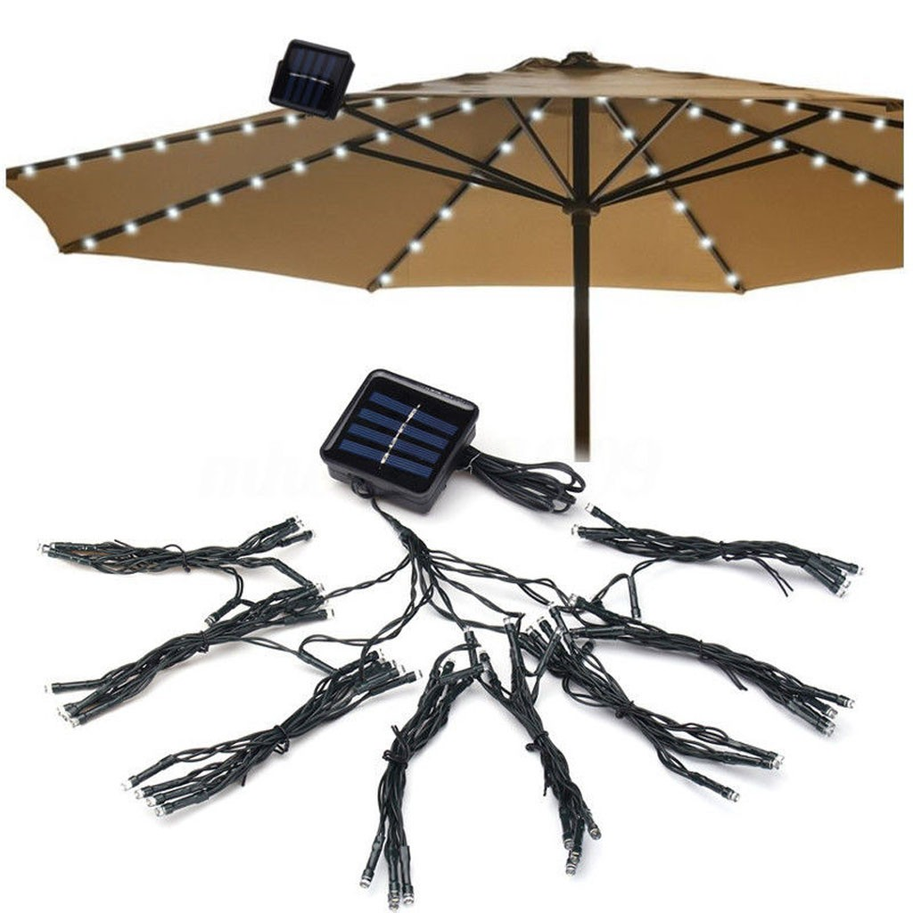 Dropshipping 72LED Patio Umbrella Lights Waterproof Outdoor String Lights Solar 2019 Hot Sale Accessories Tool Christmas Home