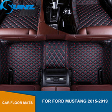 car floor mats case for ford escape kuga maverick 2015 customized auto 3d carpets custom fit foot liner mat car rugs black Car floor mats For Ford Mustang 2015 2016 2017 2018 2019 Custom auto foot Pads automobile carpet cover SUNZ