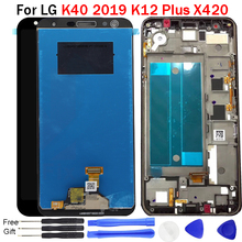 For LG K40 2019 LCD Display Touch Screen Digitizer with frame X420 LMX420HM LMX420EMW K12 Plus lcd X4 screen