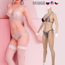 Eyung glisser costume 7th fausse chatte culotte avec seins artificiels Silicone seins plaque body avec vagin sous-vêtements faux poitrine