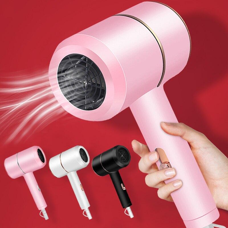 1800w mini secador de cabelo anion professinal ionic vento quente e frio secador de cabelo elétrico salão de beleza ferramenta