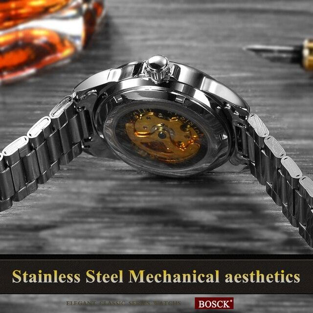 Automatic Mechanical Gold Skeleton Self Winding Watch 3
