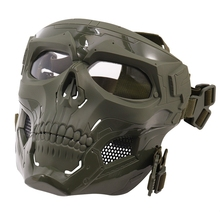 Skull Mask Full Face Helmet Mask Horror CS Halloween Protective Masquerade Party Halloween Makeup Cosplay Outdoor Riding Masks
