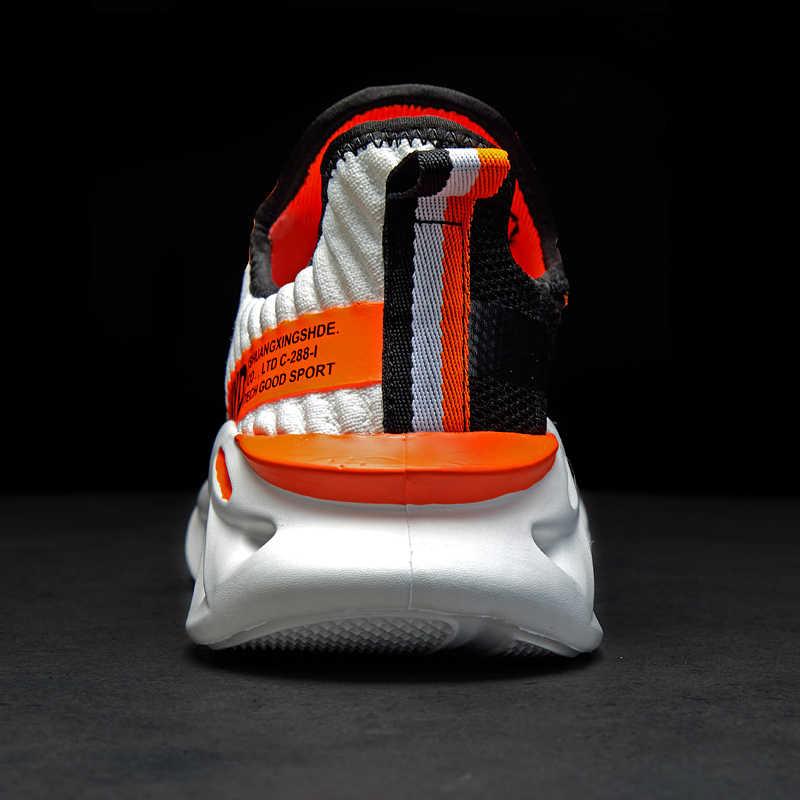 Дышащие кроссовки из хлопка 48 светильник Мужская Спортивная обувь 47 Большие размеры кроссовки 45 модная женская обувь для пробежек повседневная обувь