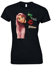 Rapunzel Tangled Princess Alternative Art Punk Ladies Tshirt Tee Top AC94 Men Women Unisex Fashion tshirt Free Shipping(China)