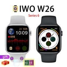 IWO W26 1,75 pulgadas de pantalla HD Serie 6 Bluetooth llamada IP68 impermeable reloj inteligente 6 1:1 IOS Android pk IWO 8 9 10 12 13 X6 X7 T600