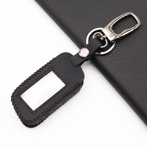 Image 3 - 2020 Praise Leather Key Case for Starline A93 A63 Russian Version Two Way Car Alarm LCD Remote Controller Keychain Fob Cover