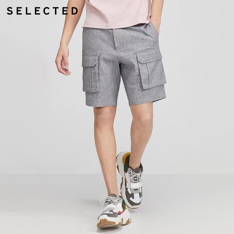SELECTED Men's Cotton Multiple Pockets Knee-high Cargo Shorts S|4202SH516