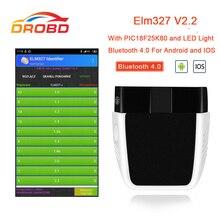OBD2 ELM327 V2.2 narzędzie diagnostyczne PIC18F25K80 Bluetooth 4.0 skaner lepiej niż elm 327 V1.5 diagnostyka samochodów odb2 obd2 skaner