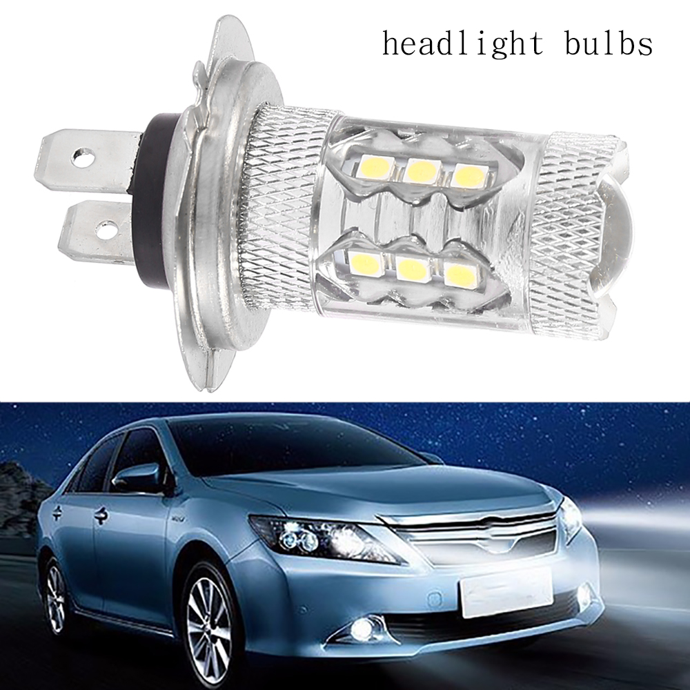 H7 LED Headlight Bulb Foglight White 12V 80W 6000K High Power Car Headlight Bulb Professional Car Accessories