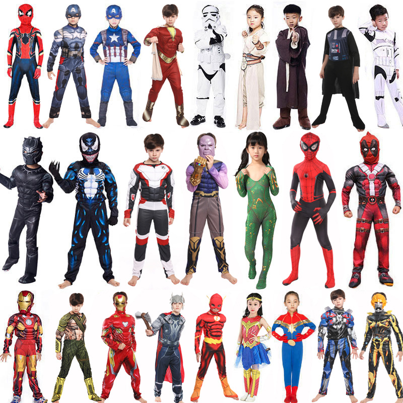 Star Wars Avengers Venom Batman Superman Cosplay Iron Man Ant Man Hulk Black Panther For Halloween Performance Costume