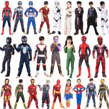 Star Wars Avengers VENOM Batman Superman COSPLAY Iron Man ANT Man Hulk Black Panther สำหรับฮาโลวีนเครื่องแต่งกาย(China)