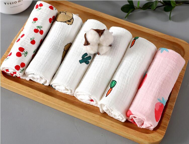 Herbabe 6 шт 100% хлопковые полотенца для новорожденных слюнявчик