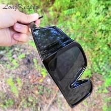 Мужские и женские винтажные Квадратные Солнцезащитные очки longkeeper