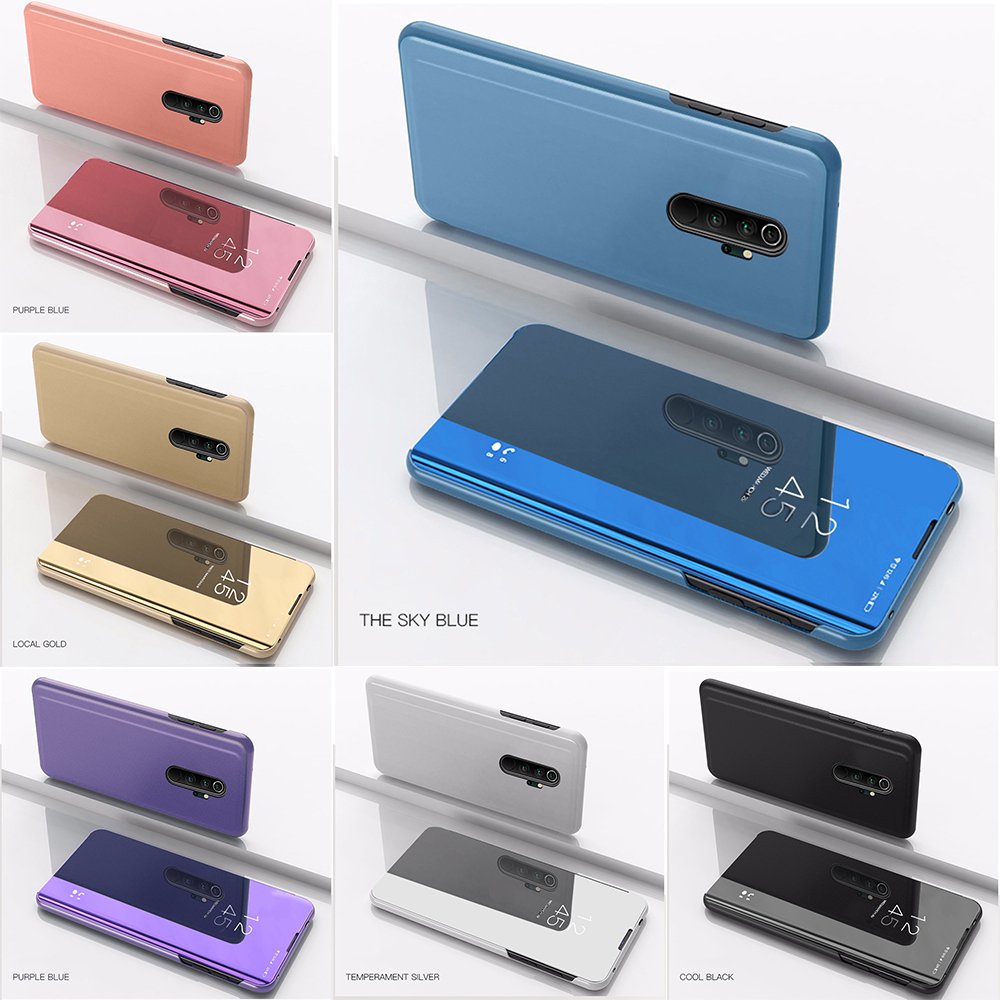 Luxury Magentic Smart Mirror Phone Case For Xiaomi Redmi Note 8 Pro 8T Shockproof Cover For Redmi 8 8A Note 10 Pro Flip Cases
