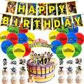 48 шт./лот мой герой воздушные шары с днем рождения баннер торт фигурки жениха и невесты; Латексных воздушных шаров для мальчиков и для девоче...