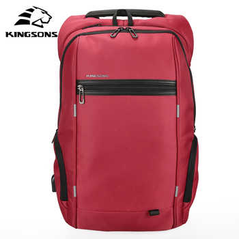 Kingsons 15 inch Laptop Backpacks USB Charging Anti Theft Backpack Men Travel Backpack Water Repellent School Bags Male Mochila - DISCOUNT ITEM  40% OFF All Category