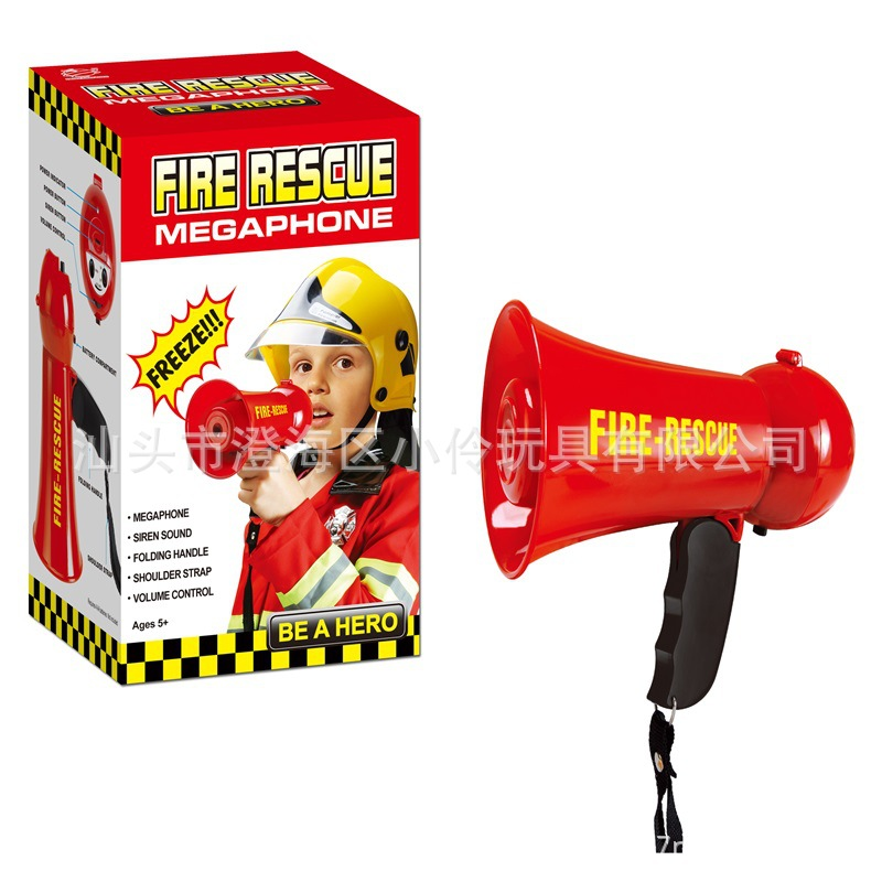 Emulate Toy Small Speaker Children Mini Megaphone Acoustic Generator Firefighting Character Dressing Up Imitation Toy