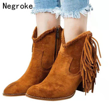 2019 New Boots Women Leather Shoes For Winter Boot Woman High Heels Botas Mujer Female Ankle Ladies