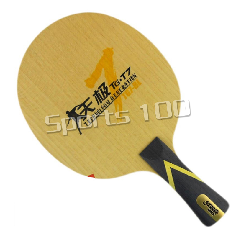 DHS TG7.P2 ( TG7-P2, TG7 P2) 5-Full-Wood, Attack+Loop, OFF++ Table Tennis Blade (Shakehand) For PingPong Racket