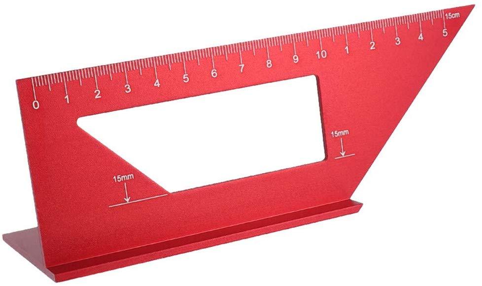 Aluminum Woodworking Scriber T Ruler Multifunction 45//90 Degree Angle Ruler 15cm