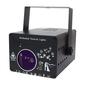 Image 5 - YSH DJ Disco Light 288 Pattern Animation Laser Projector Stage Light Effect Sound Activate Party Light for Wedding Vacation Club