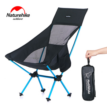 Naturehike Outdoor Portable Folding Chair Lightweight Camping Beach Backrest Lounger Chair Moon Chair Picnic Fishing NH17Y010-Z
