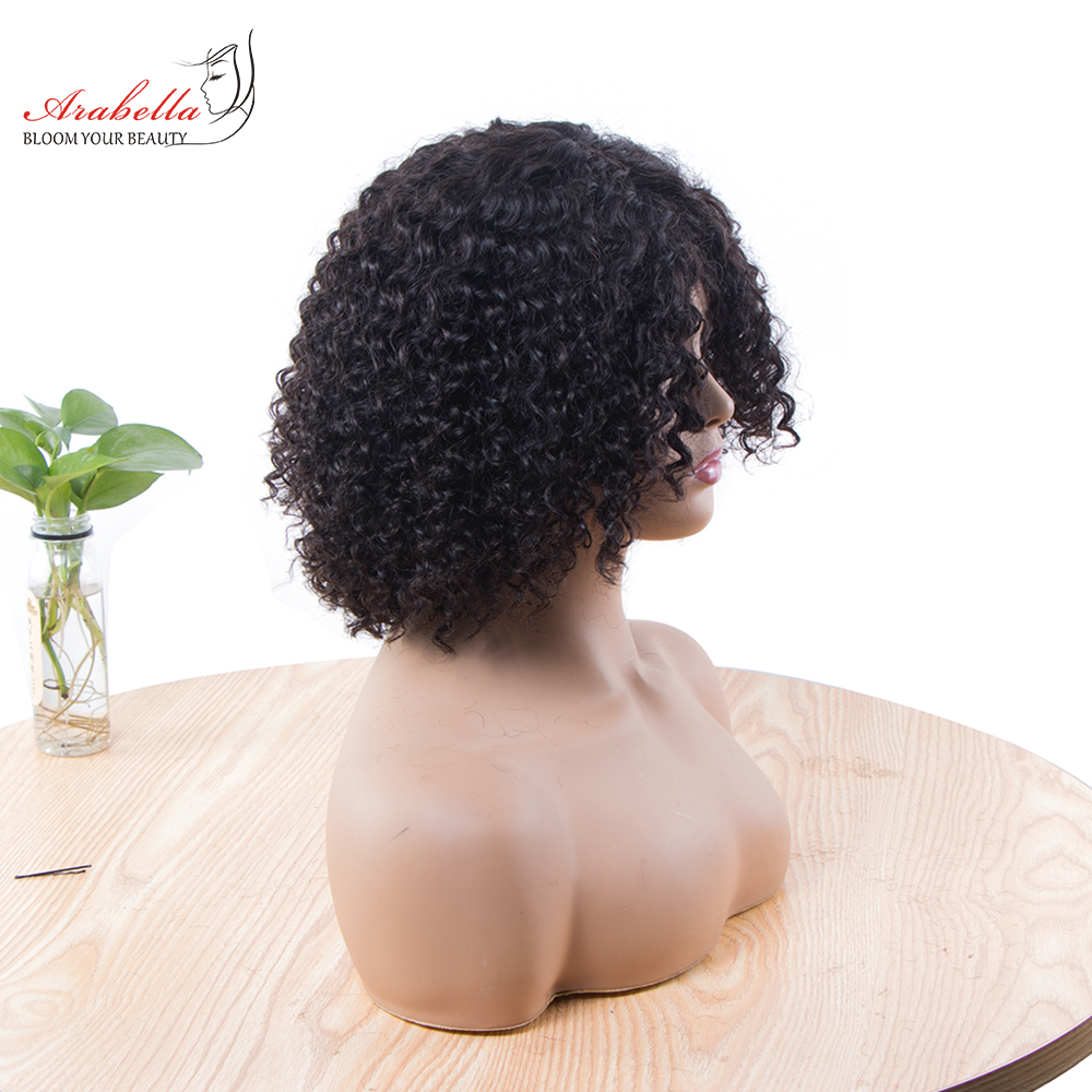 Jerry Curly Machine Wig 100%  Wigs 180% Density Natural  Hair Arabella Curly Hair Wig  2