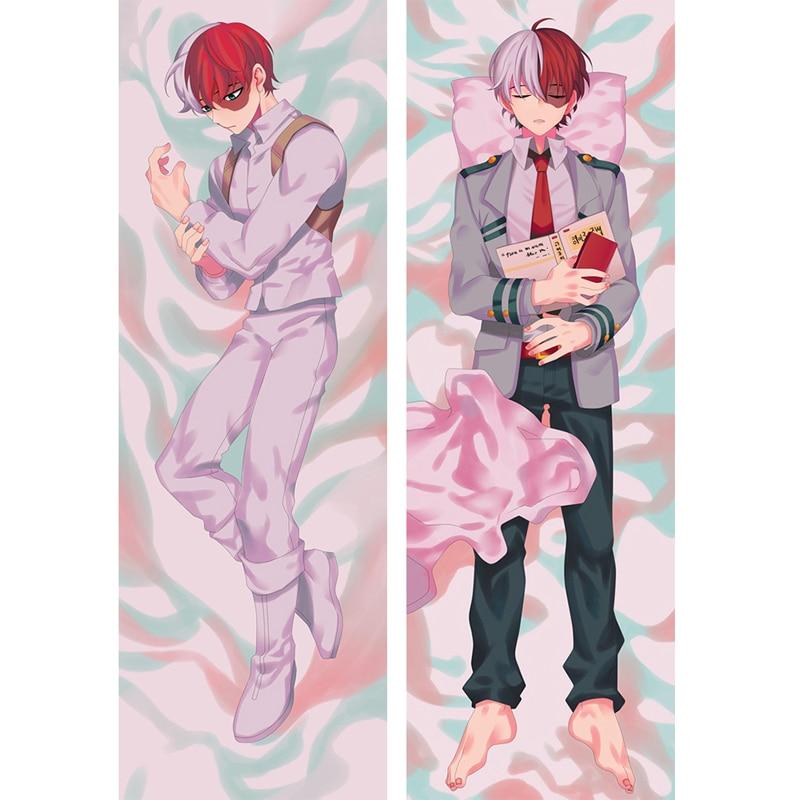 Japanese Anime My Hero Academia Pillow Case Todoroki Shoto Cosplay Costume Cover Dakimakura Cushion Fujoshi BL Hugging Body