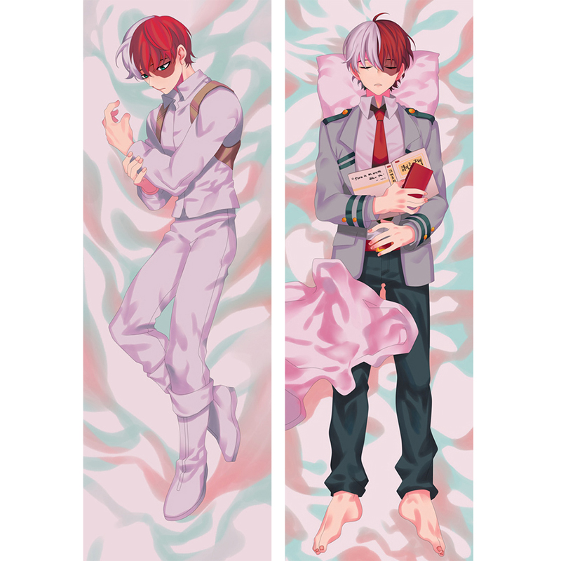 Japanese Anime My Hero Academia Pillow Case Todoroki Shoto Cosplay Costume Cover Dakimakura Cushion Fujoshi BL Hugging Body