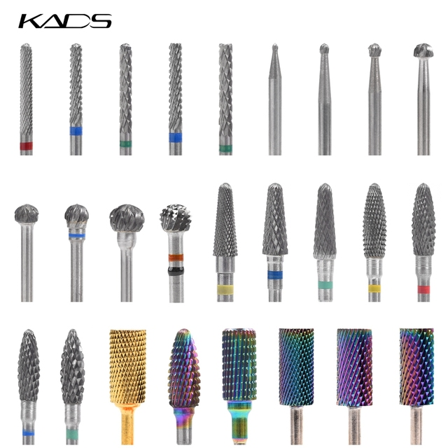 26 Types Carbide Nail Drill Bits Milling Cutter Manicure Machine Rotary Electric Drill Nail Files Nail Accesoires Nail Art Tools