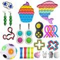 Zappeln Spielzeug Pop Anti Stress Set Stretchy Saiten Push Geschenk Pack Erwachsene Kinder Squishy Sensorischen Antistress Relief Figet Spielzeug