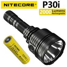 NITECORE P30i 2000 люмен 1000 м дальность поисковый фонарик, оснащенный NL2150HPi батарея