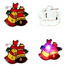 25Pcs Christmas Party Brooch Luminous Badge Unique Brooch Pin Party Supplies