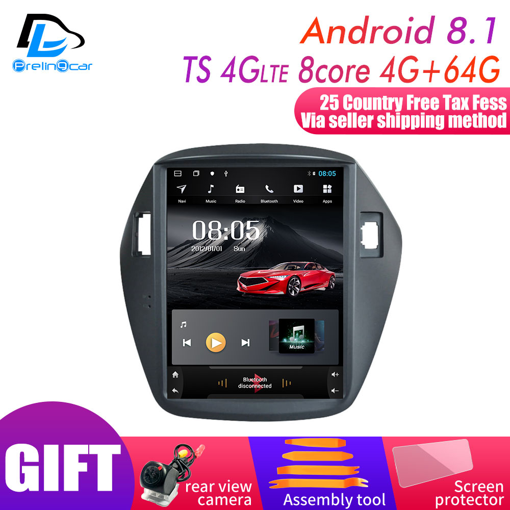32G ROM Android 9.0 Navigation System Vertical Type Radio Bluetooth Stereo Player For Hyundai Ix35 Tucson  Car Multimedia Player