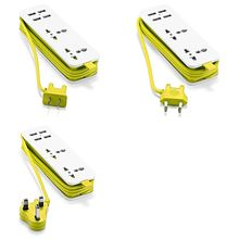 Tira de energía de la UE con 4 enchufes de extensión portátiles USB, enchufe de EE. UU., Reino Unido, 1,5 m, Cable de alimentación de CA, adaptador de viaje, cargador de teléfono inteligente USB