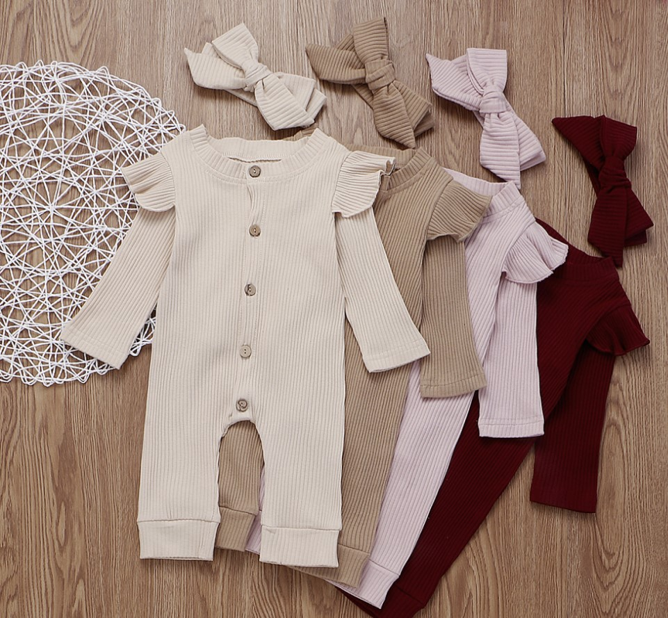 Wide.ling Newborn Infant Baby Boys Girls Clothes Knitted Romper Bodysuit Sleeveless Tassel Strap Jumpsuit Toddler Onesies Outfits