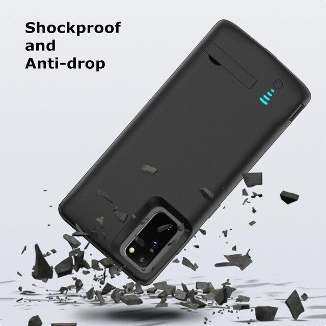 Boîtier dalimentation de batterie de téléphone de secours pour Samsung Galaxy S20 couverture de batterie dalimentation Ultra Portable pour Samsung S20 Plus S20 + chargeur de batterie