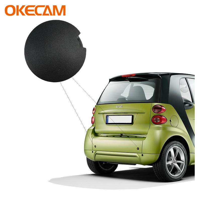 Car Front Rear Bumper Tow Hook Eye Coupler Cover Black For Smart 451 Fortwo 2009 2010 2011 2012 2013 2014 Trailer Cover Cap